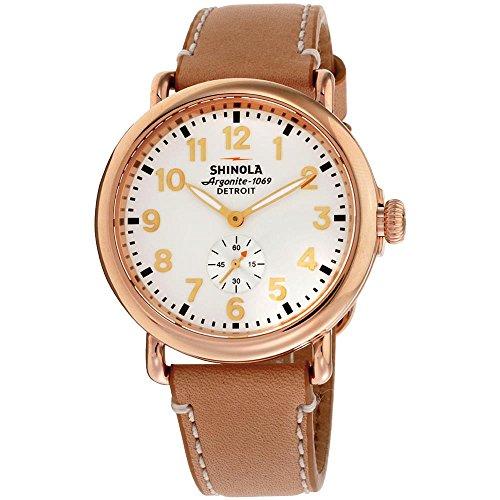 Shinola The Runwell Damen-Armbanduhr 41mm Armband Leder Braun Quarz 10000018