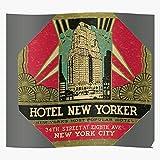 New Present York Yorker Hotel Impresionantes carteles para la decoración de la habitación impresos con la última tecnología moderna sobre papel semibrillante