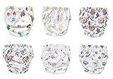 OZYOL KINDERWELT 6er Pack Wasserdicht Baby Lernwindel Trainerhosen Unterwäsche Windeln Windelhose zum Toilettentraining Töpfchentraining (Set, 100)