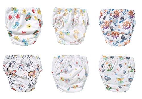 OZYOL OZYOL KINDERWELT 6er Pack Wasserdicht Baby Lernwindel Trainerhosen Unterwäsche Windeln Windelhose zum Toilettentraining Töpfchentraining (Set, 100)
