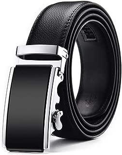 Men Belt Male Genuine Leather Strap Belts Automatic Buckle Black Belts