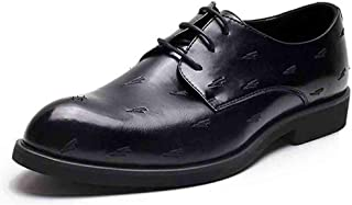Oxford Men's Prince Classic Modern Oxford Shoes Business Dress with Casual Comfortable Walking Shoes Non-slip Black Derby Saddle Shoes (Color : Black, Size : 39)