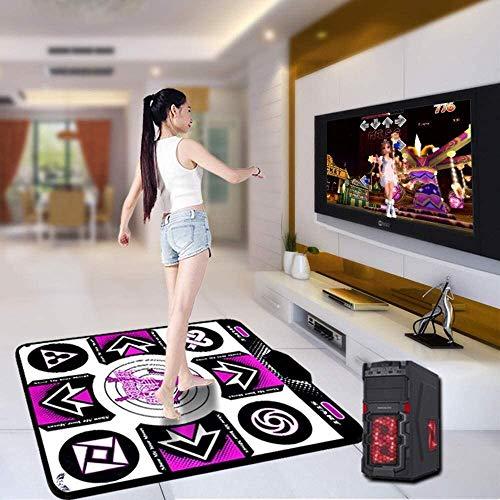 HTD Beleuchtet Tanzmatte drahtlose Tanzschritt Familienspiel Lauf Yoga Fitness Teppich USB-Schnittstelle für Wohnzimmer Unterhaltung Teppich