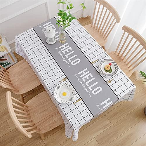 LIUJIU Mantel de vinilo decorativo de PVC, apto para cocina, interior y exterior, 120 x 160 cm