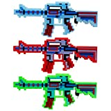 3 Pack Light up Machine Guns Toy with Sound & Lights for Kids