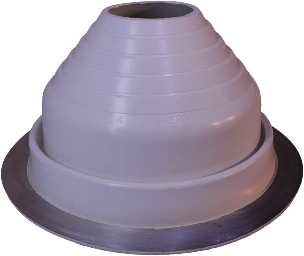 Flashers Cheap mail order sales #4 White EPDM Flexible Ranking TOP4 Roof Roofin Metal Pipe Boot Jack