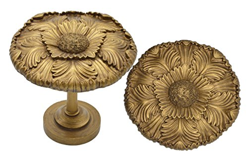 Urbanest Large Dahlia Medallion Drapery Holdback, Set of 2, Renaissance Gold