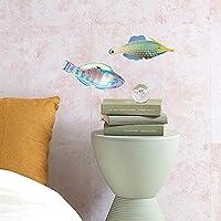 壁紙屋本舗 ウォールステッカー 海の生き物 ブダイの仲間 & テングカワハギ 右向き 浴室 シール Sセット