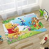 yug Rugs Carpet Washable Rectangular Nordic Cloakroom Mats Household Cartoon Pooh Bear Pattern Boy Room Bedroom Bedside Mat Home Decoration