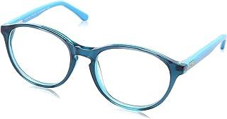 Sponge Bob Round Lens Two-Tone Plastic Medical Glasses for Kids - Green & Blue