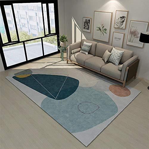 schmutzfänger Teppich blau Abstrakter Stil Teppich Salon Salon abstraktes Muster Teppich Anti-Milbe Gaming Teppich 40X60CM Teppich Reinigung 1ft 3.7\'\'X1ft 11.6\'\'