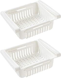 UPKOCH 2 pcs Réfrigérateur Boîte de rangement Réfrigérateur à Compartiment Organisateur Tiroir Réfrigérateur Amovible Pani...