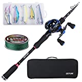 Goture Travel Pole Kit, 8ft Casting Telescopic Fishing Rod and R Reel...