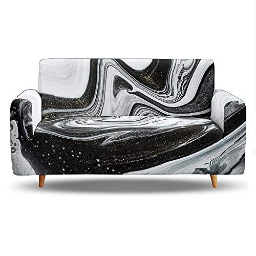 WLVG Fundas de sofá para sofá de 1 2 3 4 plazas, diseño moderno, color plateado con textura de arte moderno, funda elástica en forma de L, para sofá, camas, mascotas y gatos de 235 a 300 cm