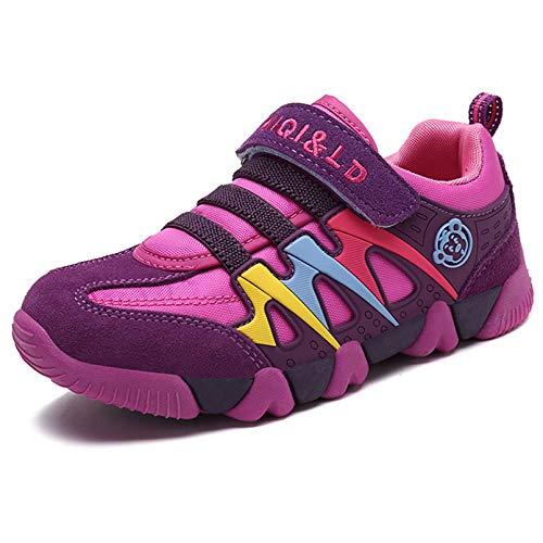 KVbabby Turnschuhe Kinder Sneaker für Jungen Sportschuhe Mädchen Hallenschuhe Atmungsaktiv Laufschuhe Für Unisex-Kinder Outdoor 23 EU=Etikettengröße:24 Rose rot