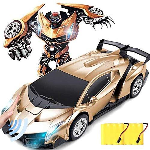 Panduo Coche de Juguete de Control Remoto Coche de deformación de Control Remoto para niños para niños, RC Robotic Car Toy 2 en 1 Deformation RC Coche Transformer Juguete