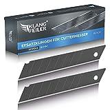 Klangfeiler® 25 Cuttermesser Klingen - 18mm Breite - Schwarze Cutterklingen für den Cutter