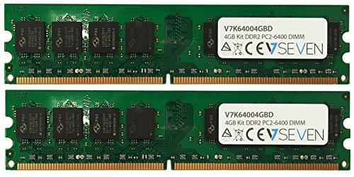 V7 V7K64004GBD Desktop DDR2 DIMM Arbeitsspeicher 4GB (2X2GB KIT, 800MHZ, CL6, PC2-6400, 240pin, 1.8V)