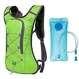 Mochila de Hidratación Ligero,Mochila con 2L Bolsa de Agua para Mujer y Hombre,8L Mochila de Bicicleta Ultraligera...