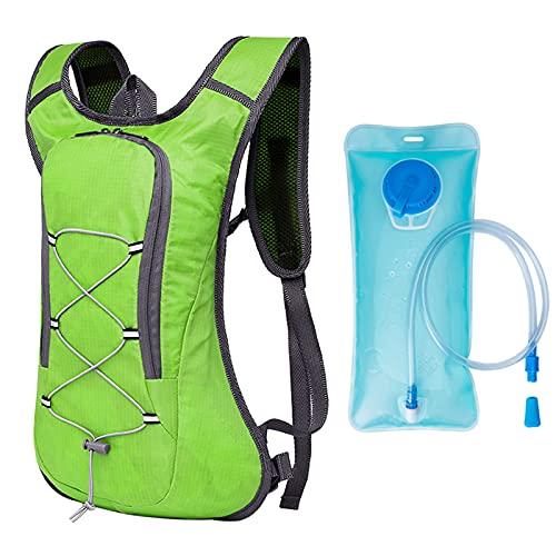 Mochila de Hidratación Ligero,Mochila con 2L Bolsa de Agua para Mujer y Hombre,8L Mochila de Bicicleta Ultraligera Transpirable para Ciclismo,Camping,Senderismo,Running
