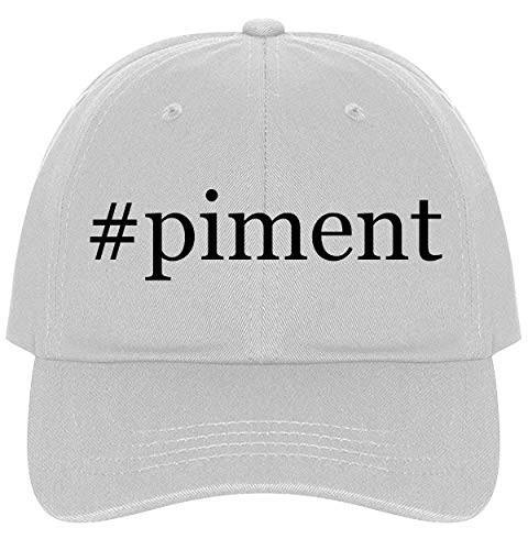 The Town Butler #Piment - A Nice Comfortable Adjustable Hashtag Dad Hat Cap, White