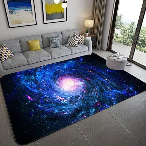 CVMFE Hochflor Teppich Galaxy Space Stars Muster Teppiche Für Wohnzimmer Schlafzimmer Teppich Kinderzimmer Spielmatte Weiche Flanell 3D Gedruckt Home Large Carpet-10_120 X 180 cm