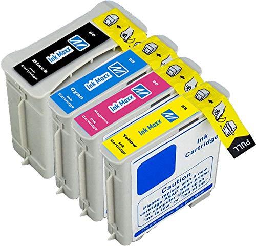 Ink Maxx Bündel von 4 Tintenpatronen 88 88 XL XL für HP OfficeJet Pro 550 Series K5400 DN DTN Series K550 DTWN K8600 L7480 L7500 L7550 L7555 L7580 L7590 L7650 L7680 L7700 L7750 L7780