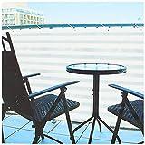 com-four® Blickdichter Balkon-Sichtschutz - Balkonumspannung mit Kordel zur Befestigung - auch als...