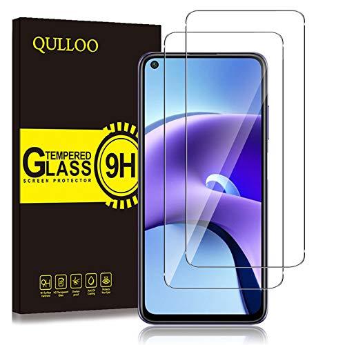 QULLOO Panzerglas Schutzfolie für Xiaomi Redmi Note 9T [2 Stück], 9H Festigkeit Anti-Kratzen Panzerglasfolie für Xiaomi Redmi Note 9T 5G