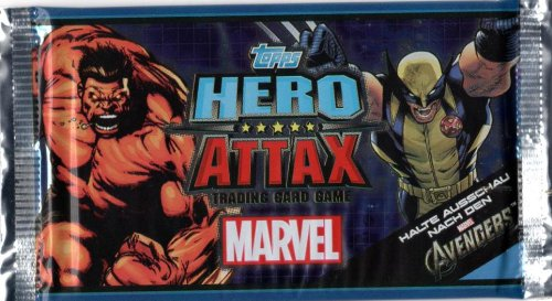 Topps Marvel Hero Attax Serie 2 Trading Card Game : 1 Booster (deutsch)