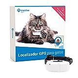 Tractive Localizador GPS para gatos, rastreador con rango ilimitado, seguimiento de actividad, resistente al agua