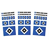 Hamburger SV HSV Aufkleberkarte 3 Bögen