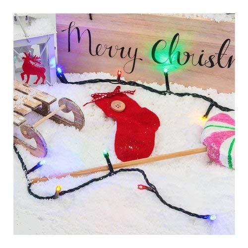 XMASKING Catena di luci Musicale, Filo di luci con canti di Natale 14,5 m, 200 LED Multicolor, 6 Giochi di Luce + Luce Fissa, Cavo Verde, 24V, Interno
