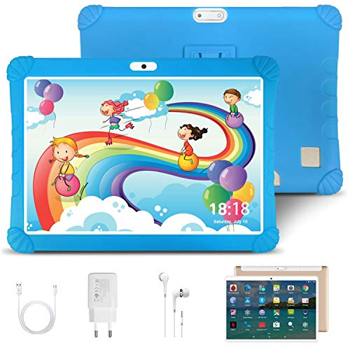 Tablet 10 Pulgadas 4G LTE WiFi DUODUOGO G16, Android 9.0 Tableta 4GB RAM 64GB ROM Quad-Core Full HD Display, Certificado por Google GMS Dobles SIM y TF, GPS, Bluetooth, OTG ,Type-C, Netfilx