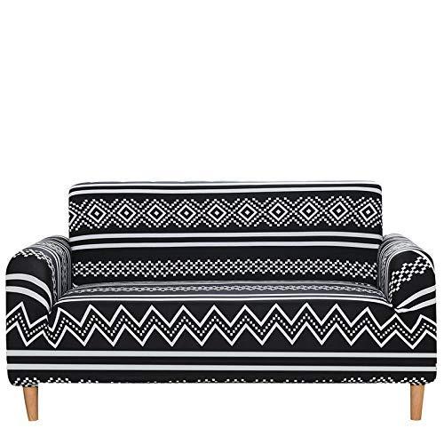 Bohemian Style All-Inclusive Sofa Cover, Waterproof Non-Slip Anti-Stain Sofa Chair Cover, Geometric Stretch Sofa Towel, Hotel Restaurant Living Room Sofa Cushion