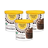 Simple Mills Organic Chocolate Frosting with Coconut Oil, Birthday Cake Frosting, Made with whole...