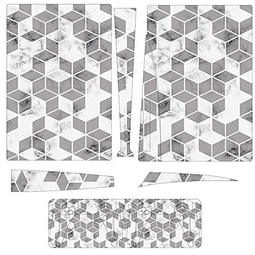 Geométrico Line Mármol Patrón PS5 (versión de unidad óptica) Juego Consola Pegatina...