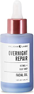 Valjean Overnight Repair Facial Oil | Retinol and Blue Tansy | Helps to Even Skintone, Calm and Soothe Redness | Cruelty F...