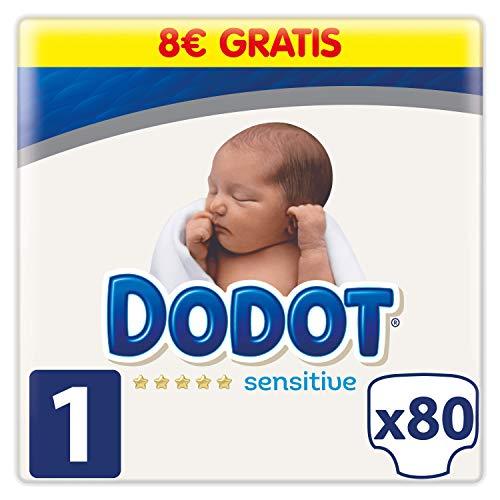 Dodot Sensitive Pañales Talla 1, 80 Pañales, 2 a 5kg