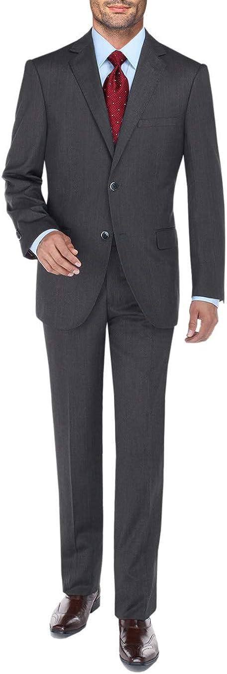 DTI BB Signature Men's Two Button 2 Piece Suit Set Modern Fit Jacket Plaid Pant