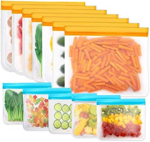 Reusable Storage Bags 12 Pack BPA Free PEVA Reusable Freezer Bags Reusable Gallon Bags Reusable product image
