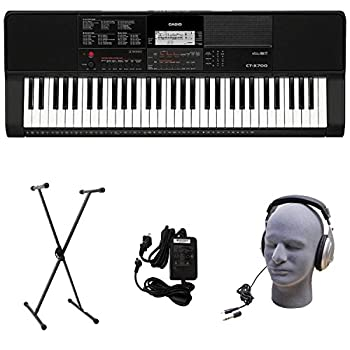 Casio CT-X700 PPK Premium Keyboard Pack with Power Supply Stand and Headphones