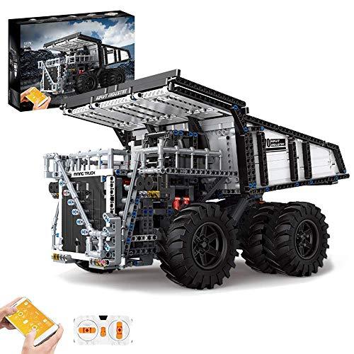 SMILOH Technik Mining Muldenkipper Bausteine Bausatz mit APP / 2,4 GHz Fernbedienung, 2044 Teile...