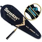 Senston N80 Grafito Raqueta de Bádminton,Badminton Racket de Fibra Carbono