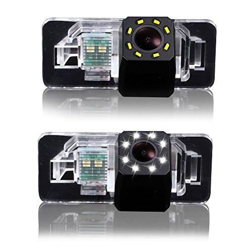 Auto Rückfahrkamera Farbkamera Einparkkamera Nachtsicht und für Rückfahrsystem Einparkhilfe - Wasserdicht & Stoßfest für X Series 1 Series 3 Series 5 Series E90 (Nr 3 mit LED-Kamera)