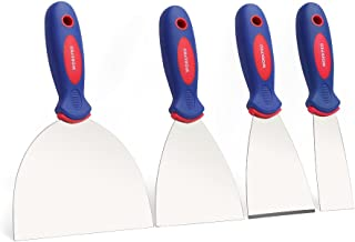 "WORKPRO Putty Knife Set Stainless Steel Made 4-piece 1.5"", 3"", 4"", 6"""