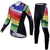 YouthRM Ropa de Ciclismo para Mujer Traje de Manga Larga Protección Solar Camisa de Bicicleta Ropa de MTB Transpirable y Delgada,Red,XX