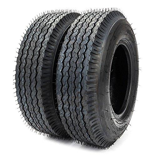 Autoforever 4.00 4.80-8 Trailer tire LRC 4 PR 4.80-8 4.80x8 Front Rear Bias Tires Pack of 2