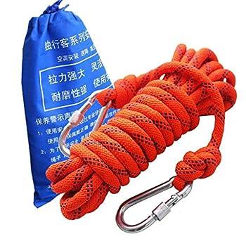 LIFEIYAN Corde De Puissance Extérieure Escalade Corde Escalade Rappel Corde Haute Altitude Protection Contre Les Chutes Équipement De Corde De Sécurité (Color : 8mm, Size : 10m)
