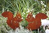 LB H&F Lilienburg 2er Set Roststecker Gartenstecker Eichhörnchen Rost Metall (Eichhörnchen Set)
